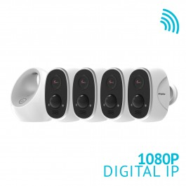 ONE Link - Wire-Free Battery Powered 4 Camera Outdoor WiFi System