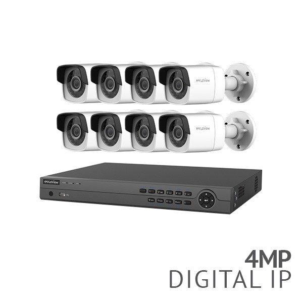 REFURBISHED ​16 Channel 4K NVR Security System with 8x 4MP HD IP Cameras​