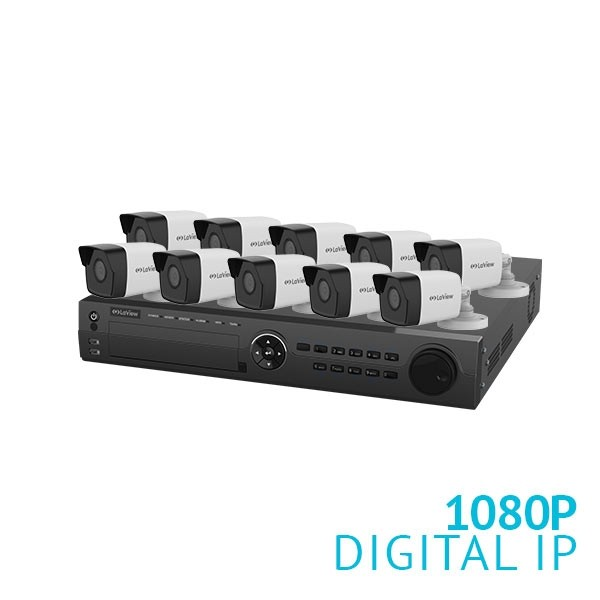 16 Channel NVR Security System with 10x 1080P IP Cameras