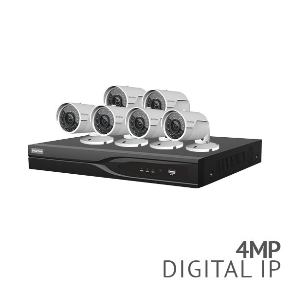 16 Channel H.265 4K NVR Security System with 6x 4MP HD IP Cameras