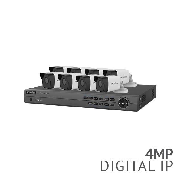 ​8 Channel 4K NVR Security System with 6x 4MP HD IP Cameras