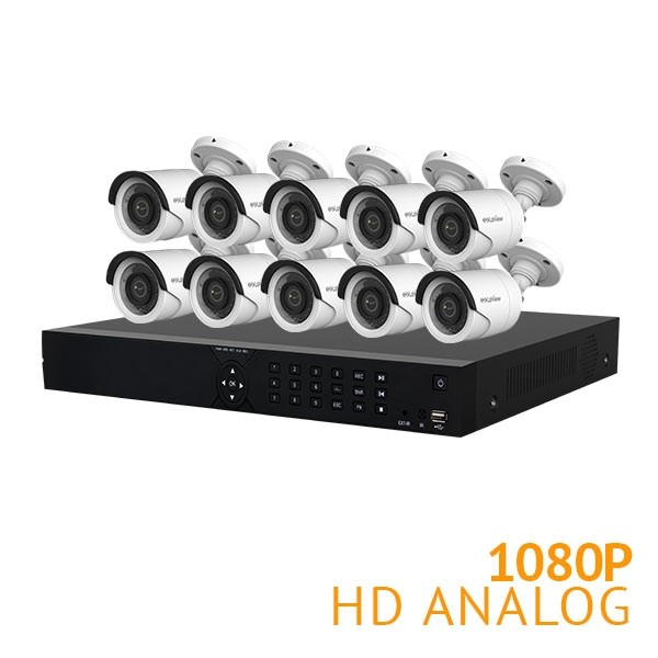 16 Channel Security System with 10x HD 1080P Cameras