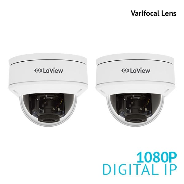 2x 1080P Varifocal Dome IP Surveillance Camera