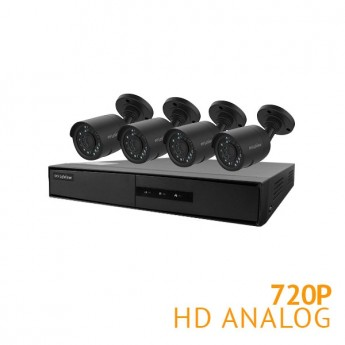 4 Channel HD DVR with 4x HD 720P Cameras