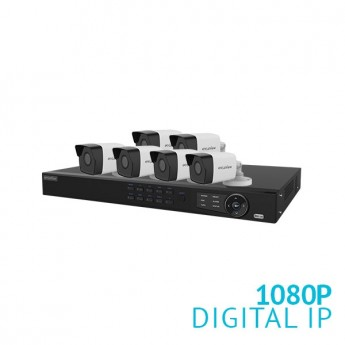 8 Channel NVR Security System with 6x 1080P  IP Cameras