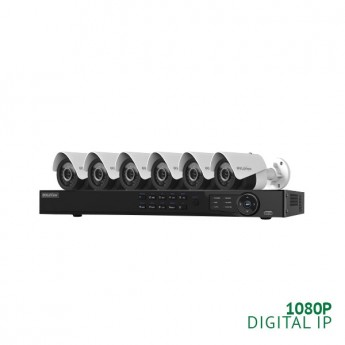 REFURBISHED - 8 Channel NVR Security System with 6x 1080P  IP Cameras