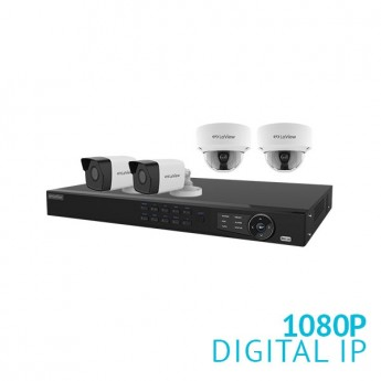 8 Channel NVR Security System with 4x 1080P  IP Cameras