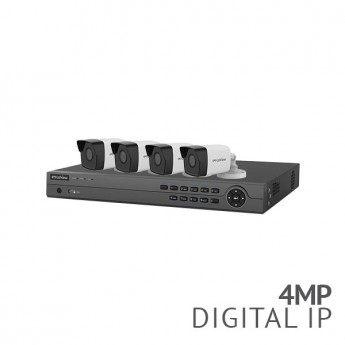 ​8 Channel 4K NVR Security System with 4x 4MP HD IP Bullet Cameras