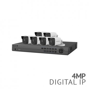 ​Refurbished - 8 Channel 4K NVR Security System with 6x 4MP HD IP Cameras