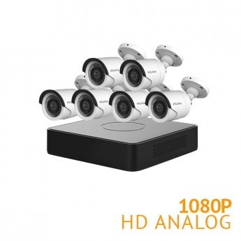 8 Channel DVR Security System with 6x 1080P Cameras
