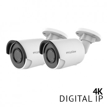 2x 4K UltraHD Bullet Smart IP Surveillance Camera