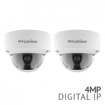 2x 4MP 2688 x 1520 IP Dome Camera 2.8 mm wide angle IP67 weatherproof IP Dome Camera