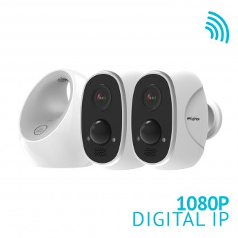 ONE Link - 2xHD 1080P Battery Powered WiFi Outdoor Security Camera