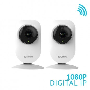 2x 1080P WiFi 185° Ultra-Wide Angle Security Camera