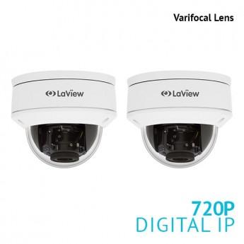 2x 720P 1.3MP Varifocal Dome IP Surveillance Camera