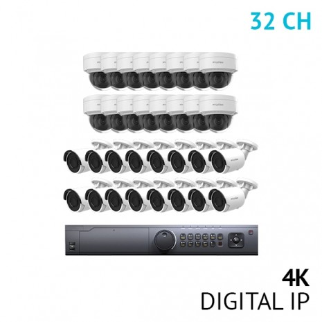 32 Channel 4K NVR Security System with 32x 4K UHD IP Cameras