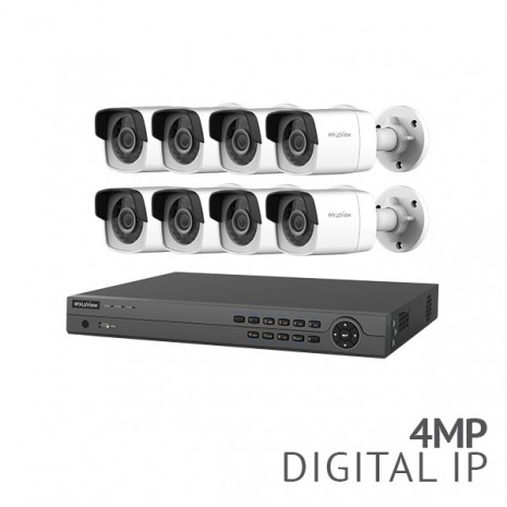 REFURBISHED 16Channel 4K NVR Security System with 8x 4MP HD IP Cameras