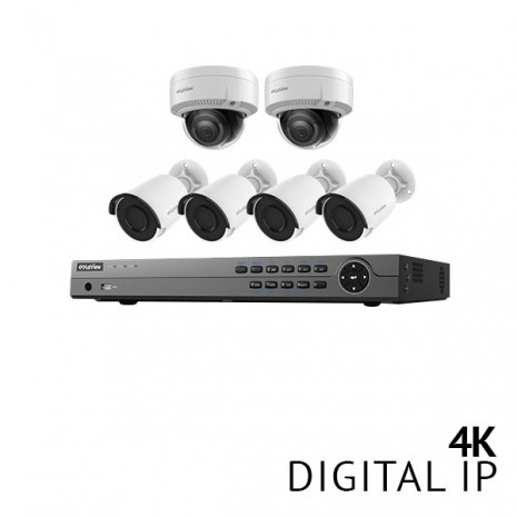​8 Channel 4K NVR Security System with 6x 4K HD IP Cameras