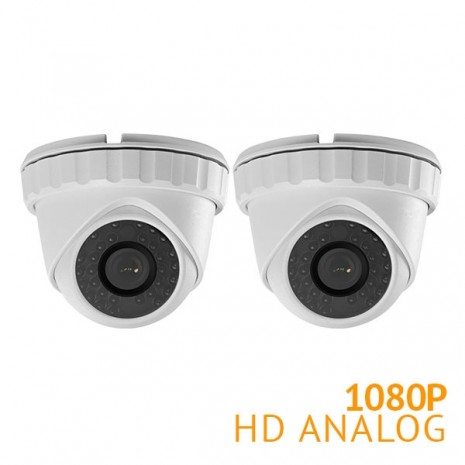 2x HD 1080P Turret Security Camera