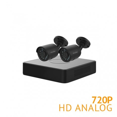 4 Channel Security System with 2x 720P HD Bullet Cameras