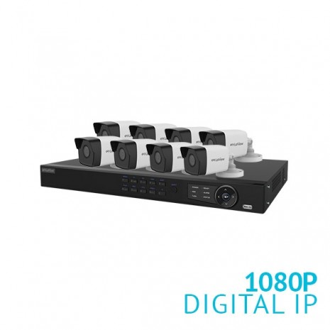 8 Channel NVR Security System with 8x 1080P Bullet IP Cameras