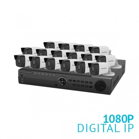 16 Channel NVR Security System with 16x 1080P  IP Cameras