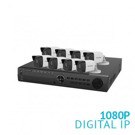 16 Channel NVR Security System with 8x 1080P  IP Cameras