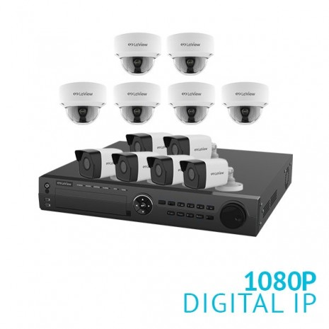 16 Channel NVR Security System with 12x 1080P IP Cameras