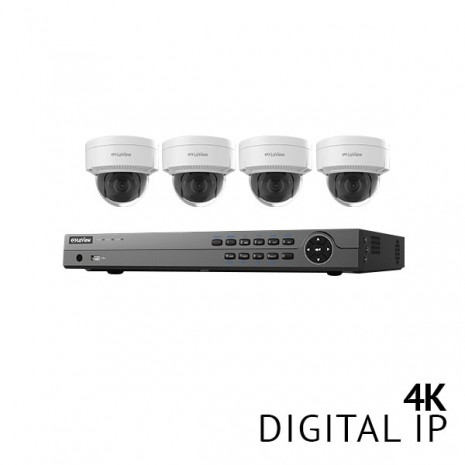 ​8 Channel 4K NVR Security System with 4x 4K HD IP Cameras