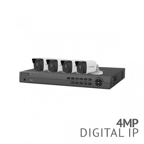 8 Channel 4K NVR Security System with 4x 4MP HD IP Bullet Cameras