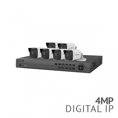 Refurbished - 8 Channel 4K NVR Security System with 6x 4MP HD IP Cameras