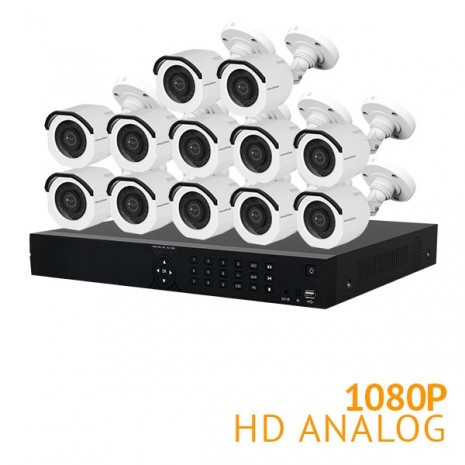 16 Channel Security System with 12x HD 1080P Cameras