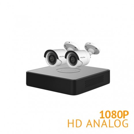 4 Channel DVR Security System with 2x 1080P Cameras