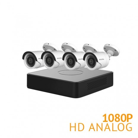 4 Channel DVR Security System with 4x 1080P Cameras