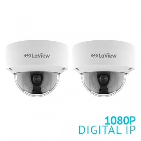 2x 1080P IP Dome Cameras