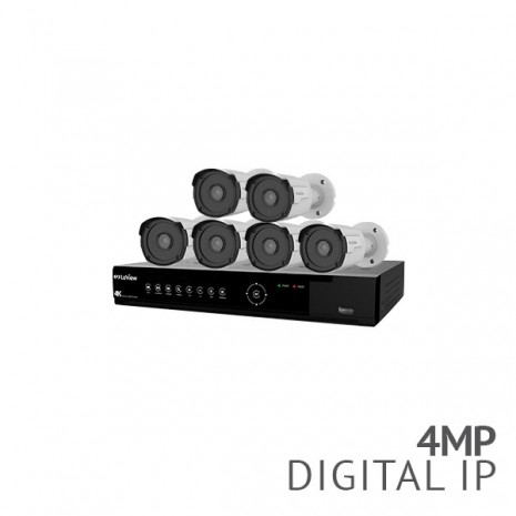 LaView Value+ 8 Channel 4K NVR Security System with 6x 4MP HD IP Bullet Cameras