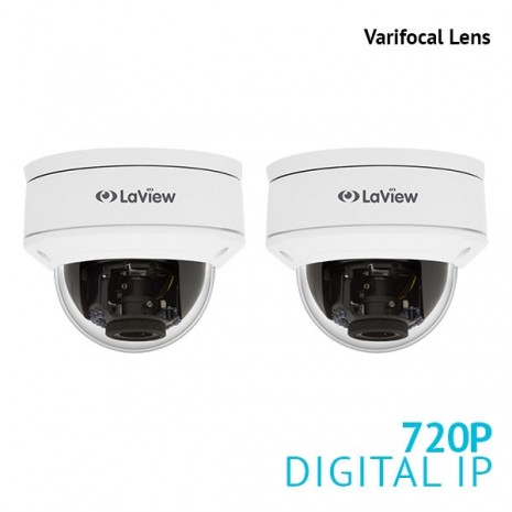 2x 720P 1.3MP Varifocal Dome IP Surveillance Camera