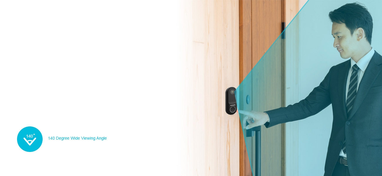 ONE Halo Doorbell Security Cameras – Wide View Angles
