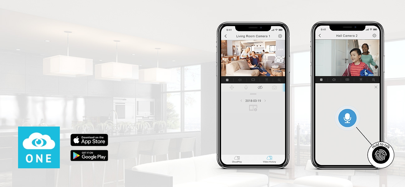 ONE Halo Doorbell Cameras – ONE Easy App